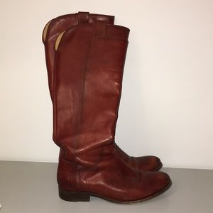 Frye red leather boots